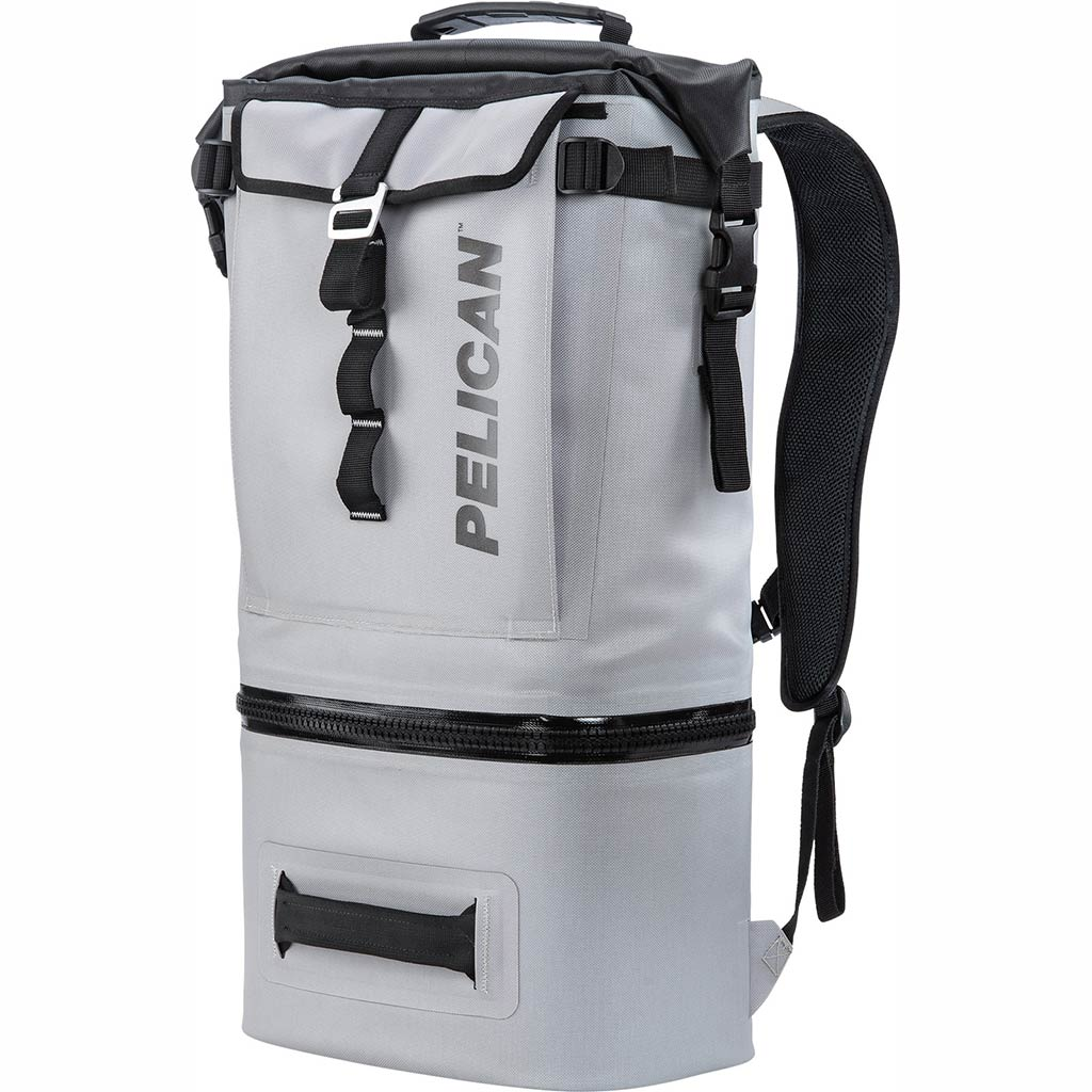 91000G Pelican Dayventure Soft Sided Gray 19Q Backpack Cooler