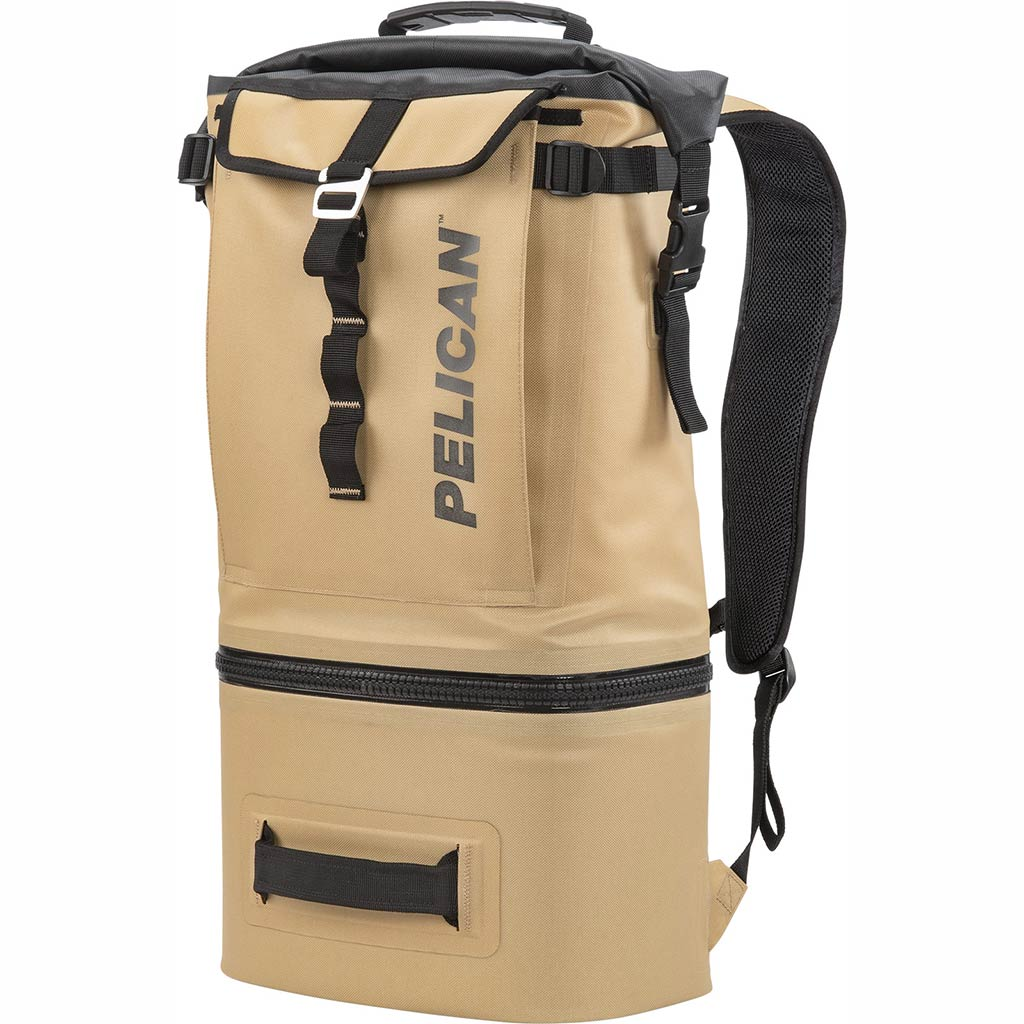 91000T Pelican Dayventure Soft Sided Tan 19Q Backpack Cooler