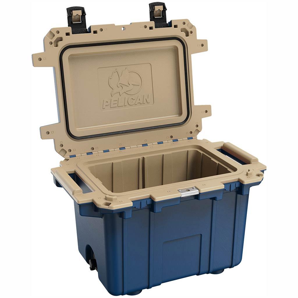 91050QB Pelican Elite 50Q Blue/Tan Cooler