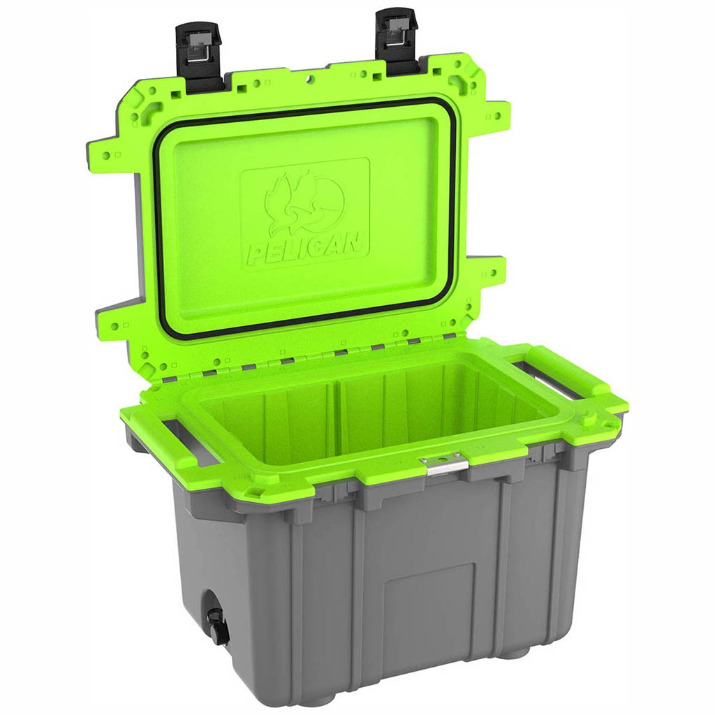 91050QG Pelican Elite 50Q Grey/Green Cooler