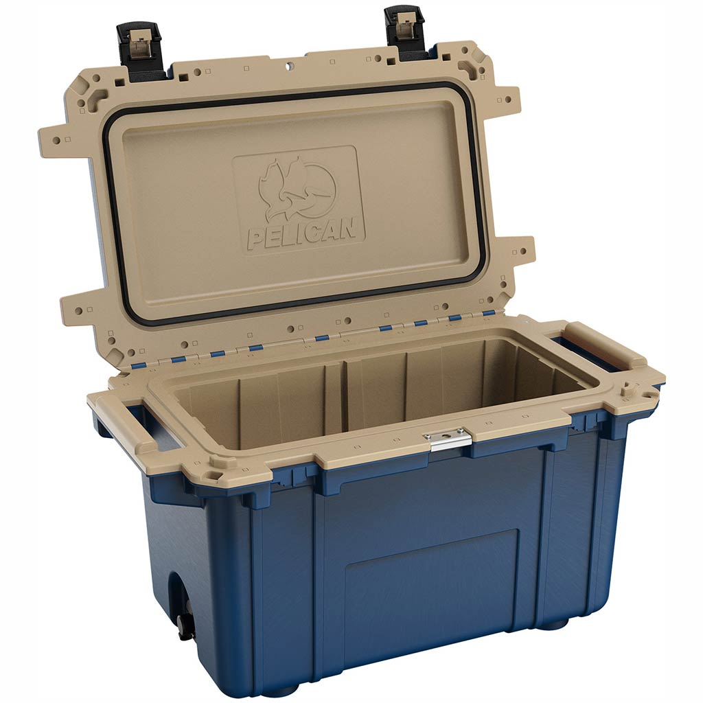 91070QB Pelican Elite 70Q Blue/Tan Cooler