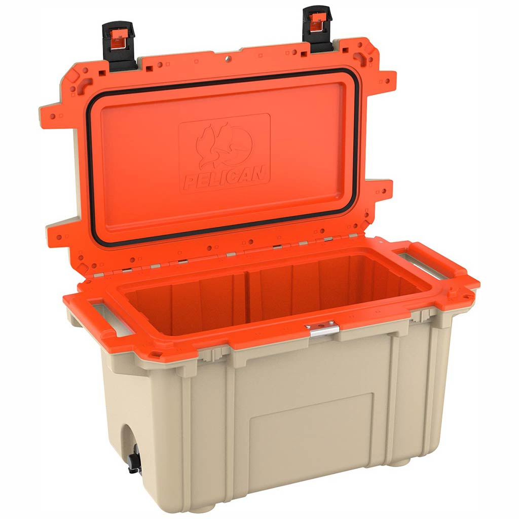91070QT Pelican Elite 70Q Tan/Orange Cooler