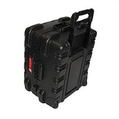 ATA Style Black Shipping Case with Wheels
