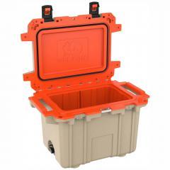 91050QT Pelican Elite 50Q Tan/Orange Cooler