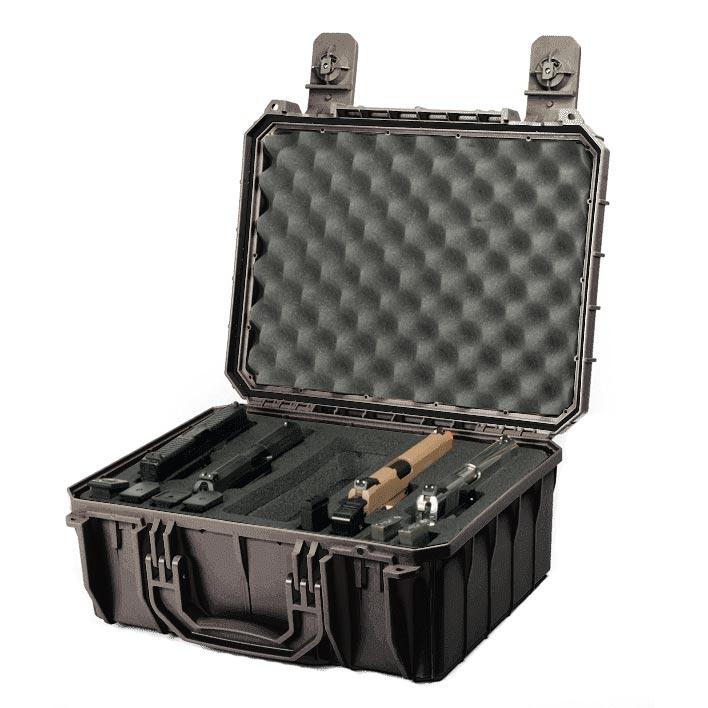 66254FP4 Seahorse 630FP4 Four Pistol Range Case 16x11x6 - Custom Foam