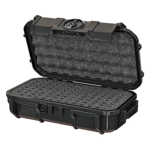 66258BH-B Seahorse Bullet Holder Black Micro Case 8x4x2- Foam Filled