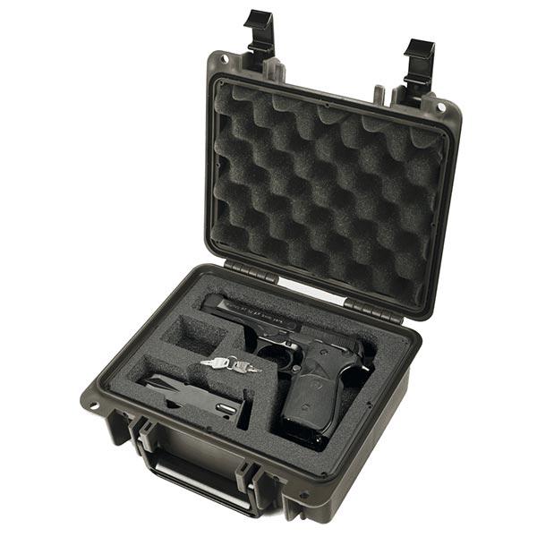 66260FP1-B Seahorse SE300 FP1 Black Pistol Case 9x7x4 - Foam Filled