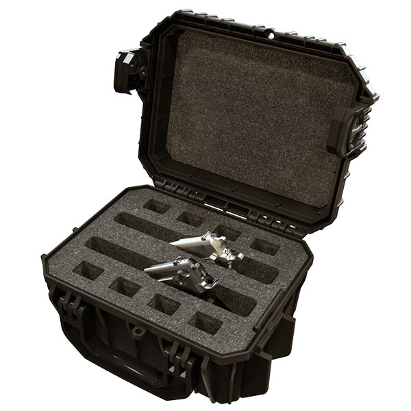 66261FP2-B Seahorse 430FP2 Two Gun Black Case 11x8x5 - Foam Filled