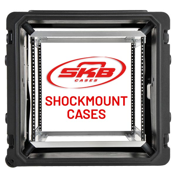 SKB Shockmount Cases designed for field use electronics